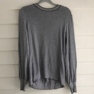 Loft balloon sleeve striped sweater M